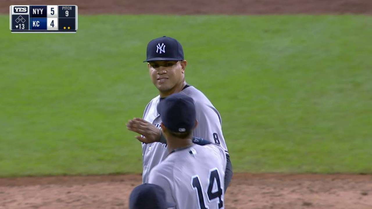 Betances induces double play