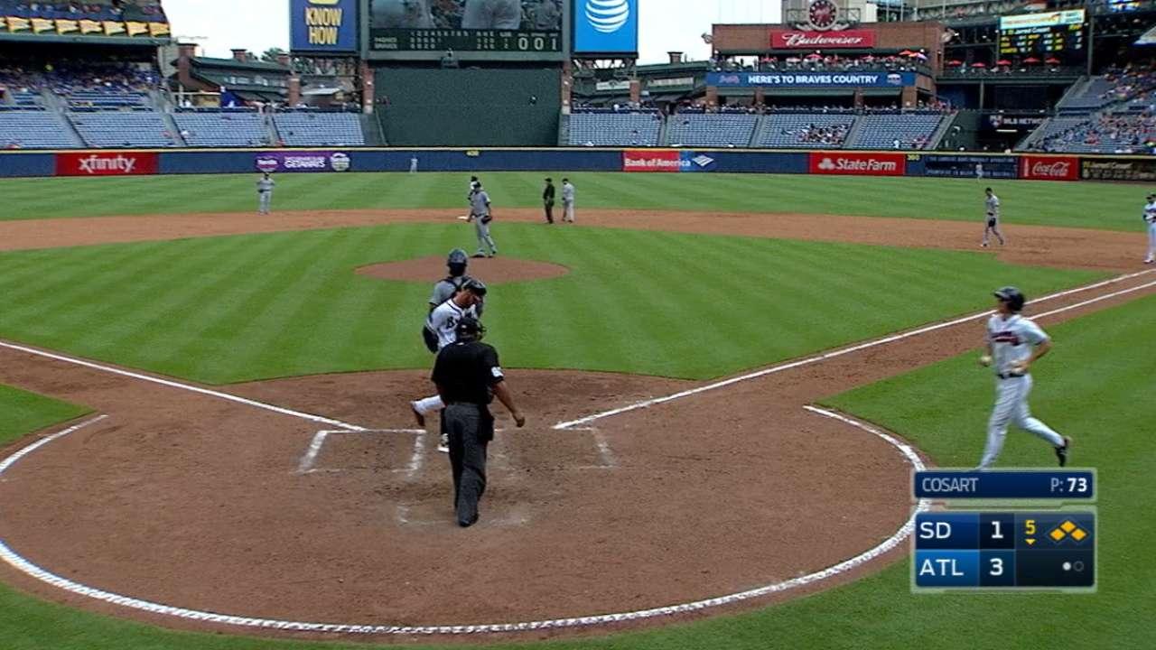 Braves' five-run 5th inning
