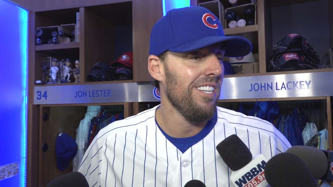 Lackey aiming for Sunday return to Cubs