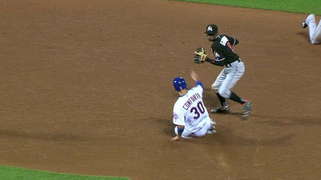 Marlins' double play