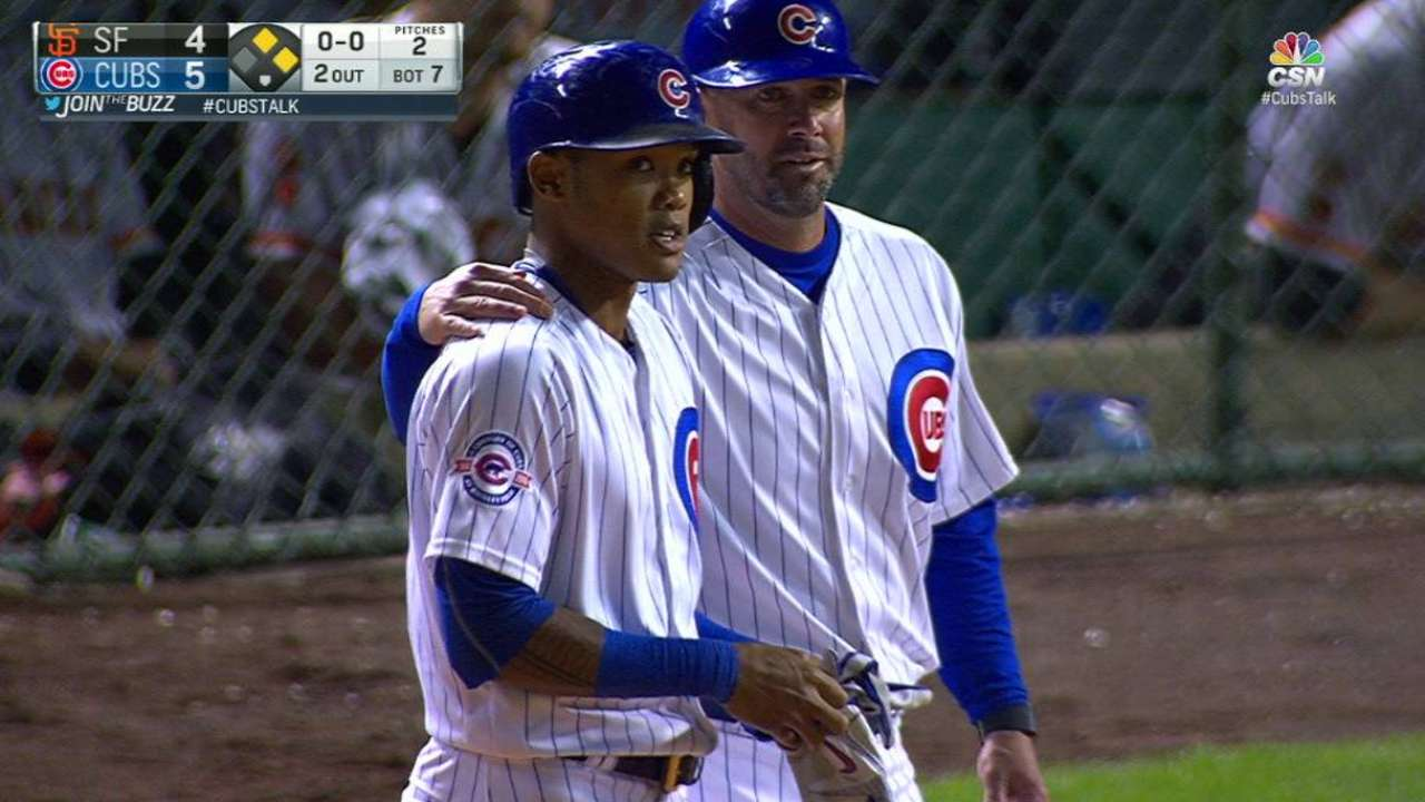 Cubs Russell up rally to top Giants in opener