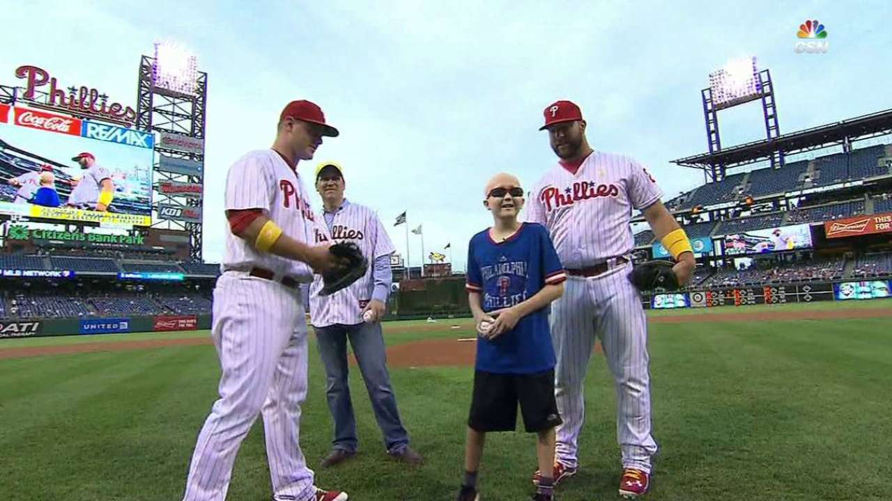 Phillies go all in to support Childhood Cancer Awareness Day