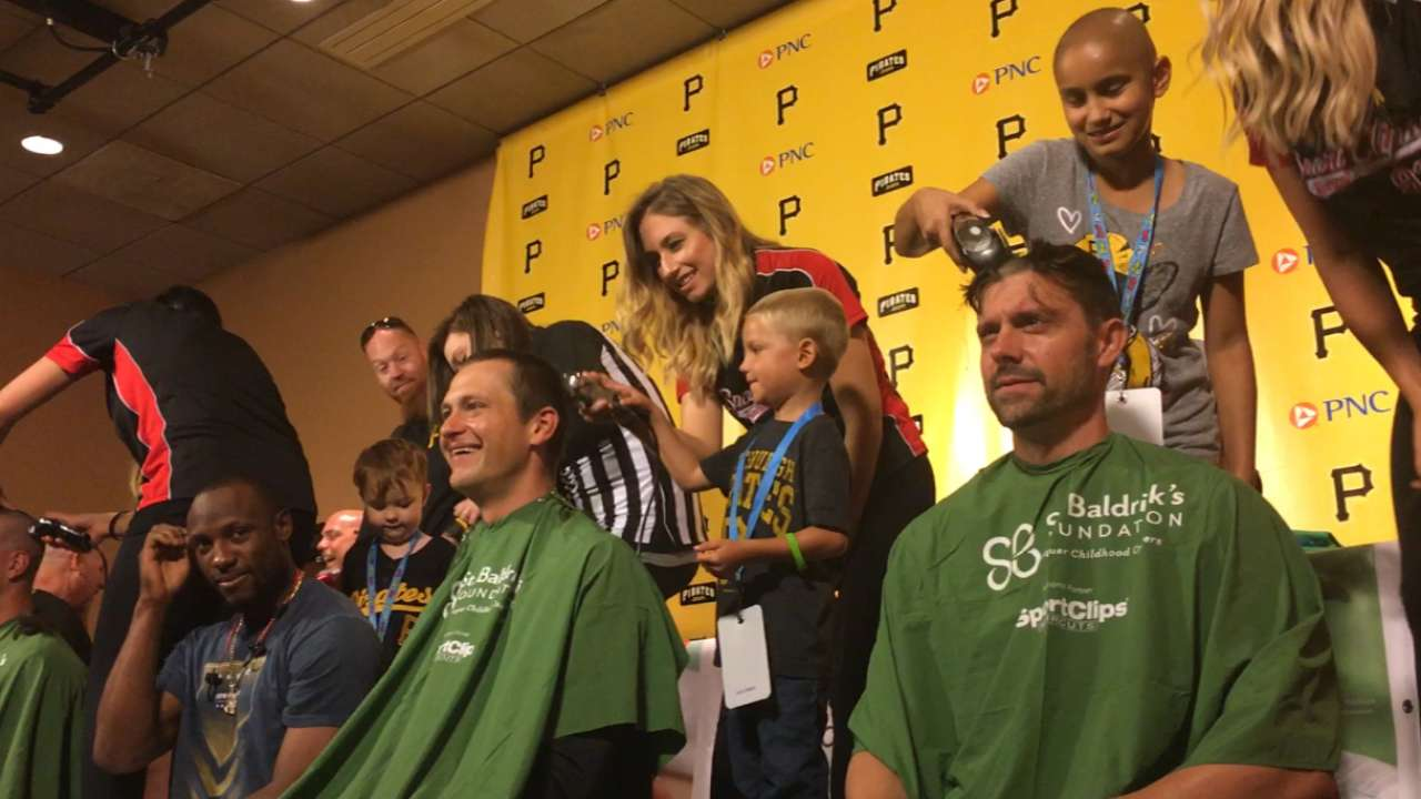 Pirates shave heads for childhood cancer awareness