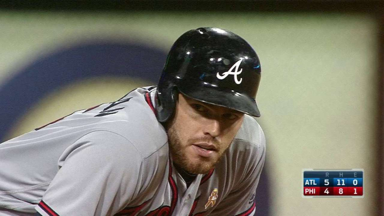 Braves score 8 unanswered to defeat Phillies