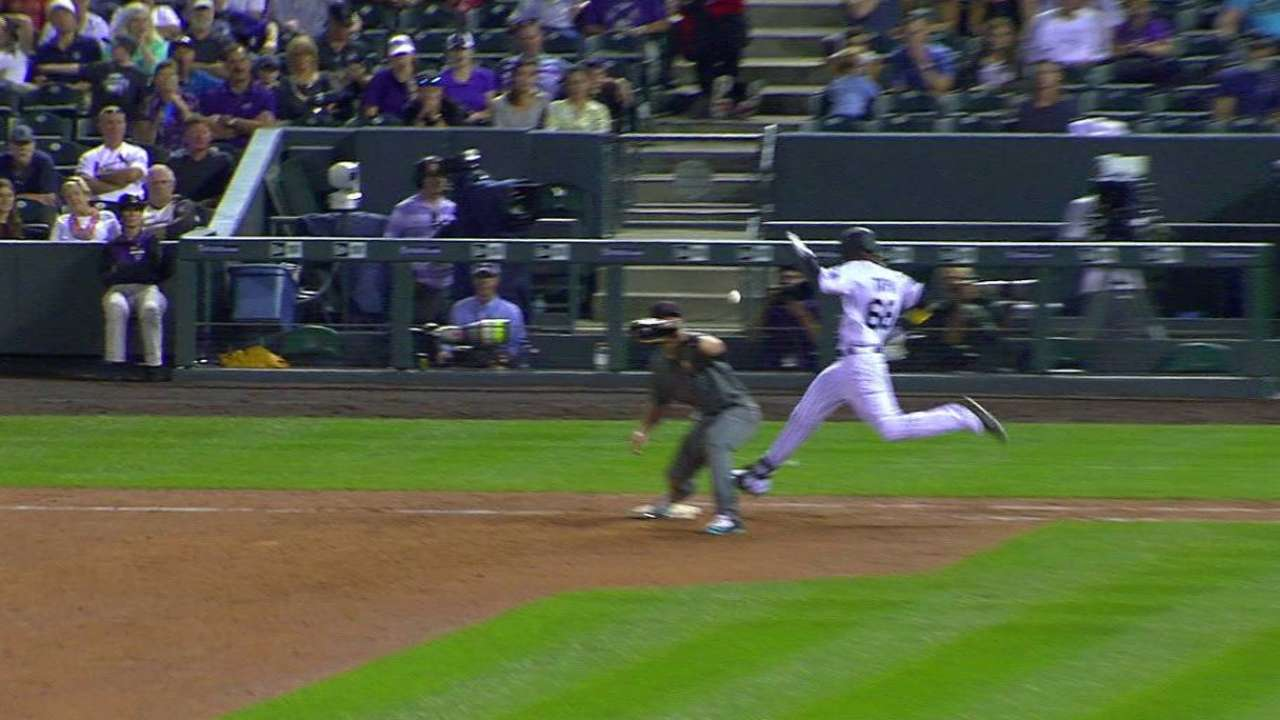 Young standout: Tapia brings flair to Rockies
