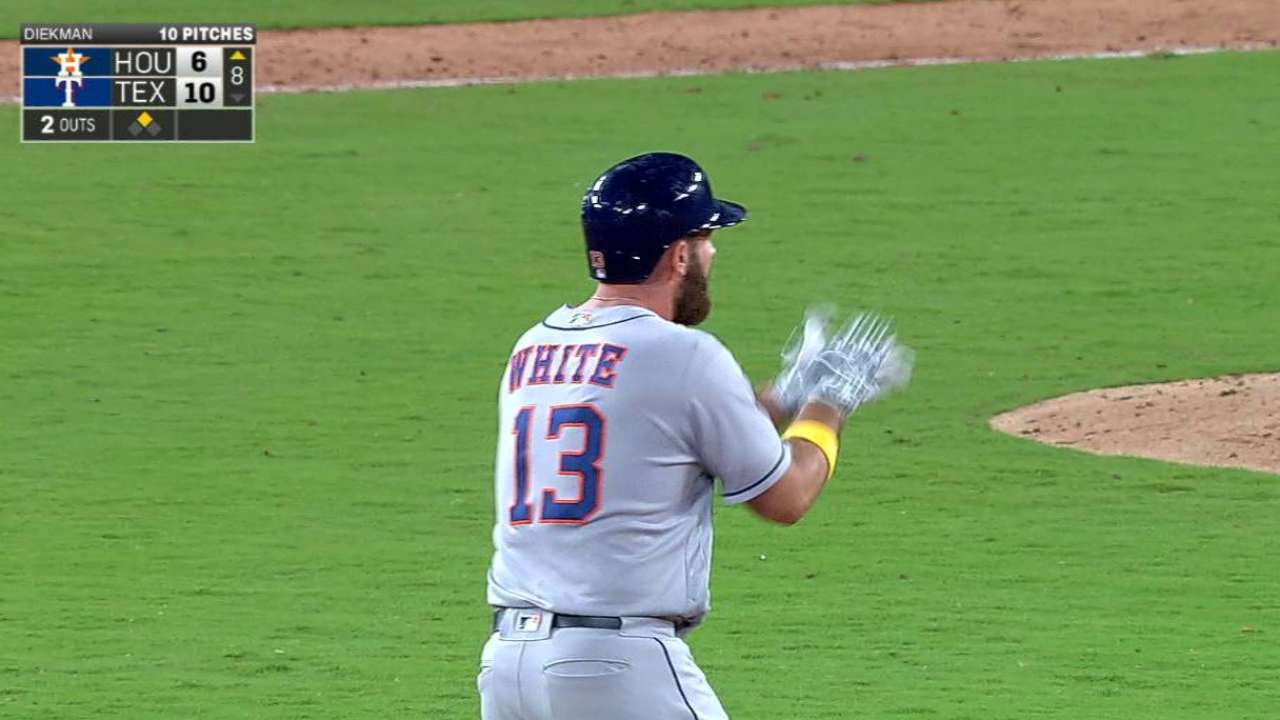 White's two-run double