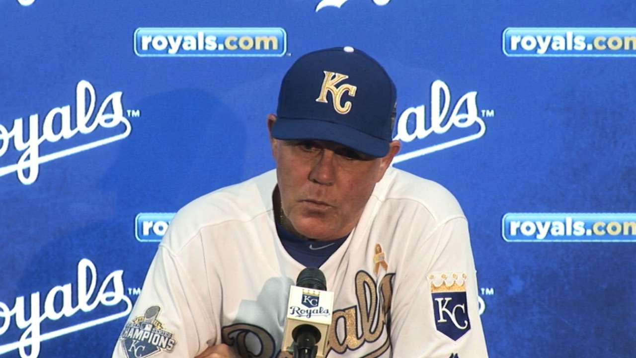 Yost on pitching in 7-6 loss