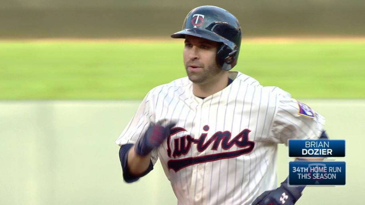 Dozier's leadoff home run