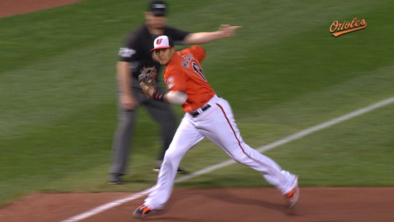 Machado's outstanding throw