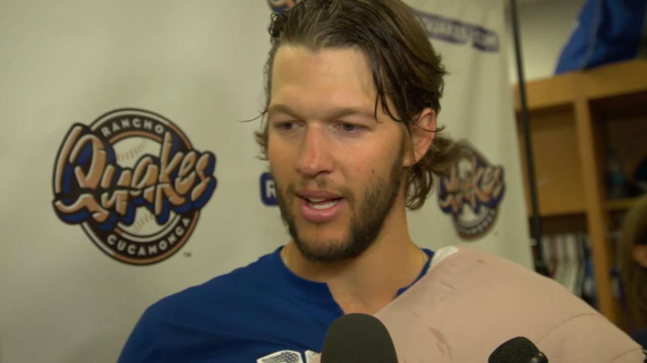 Kershaw on his rehab outing