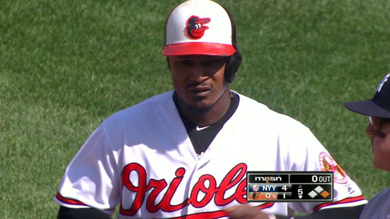 Jones moves up on O's hits list
