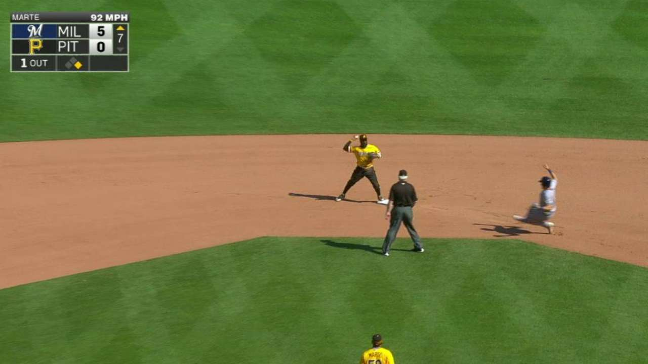 Frazier induces nice double play