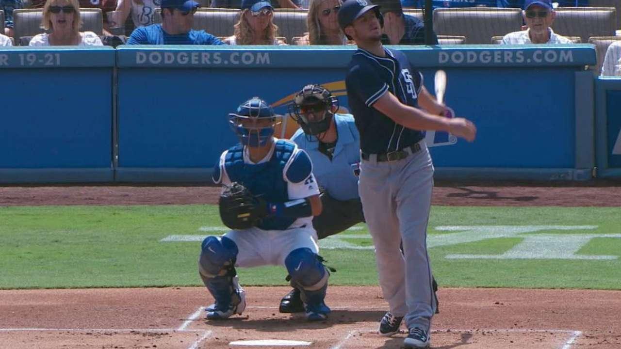 De Leon's first MLB strikeout