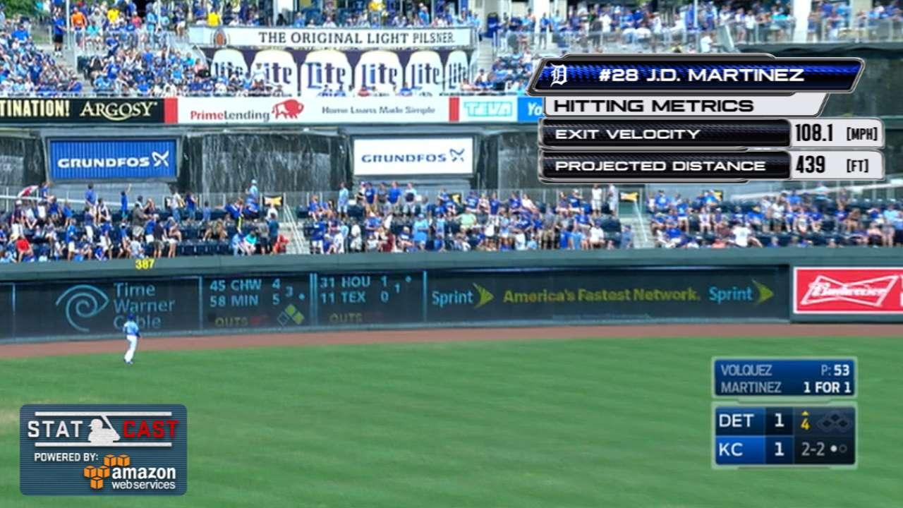 Statcast: J.D. Martinez's homer
