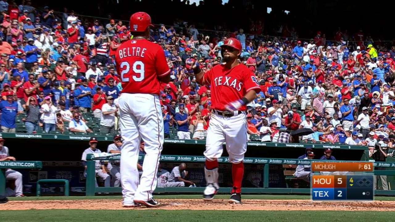 Keeping Texas hot, Odor earns weekly honor