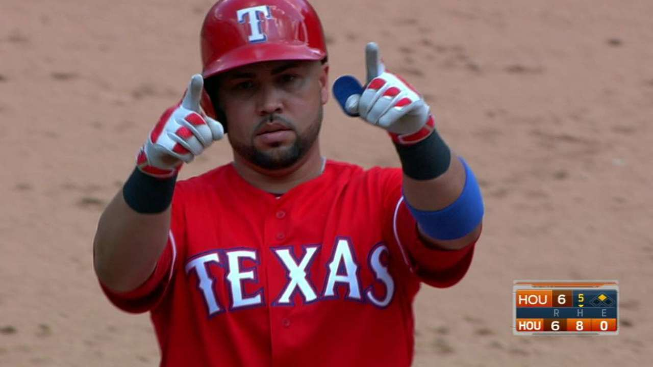 Beltran's RBI double