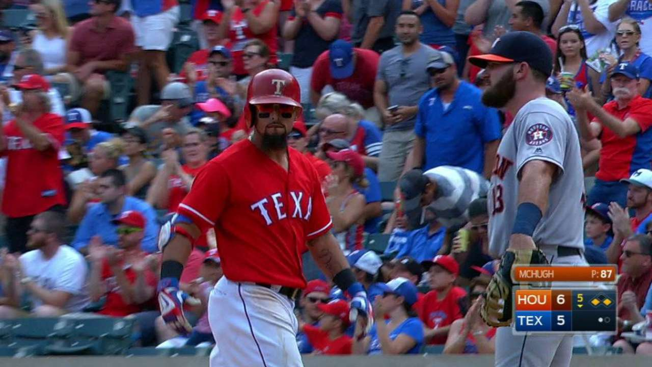 Rangers in 'driver's seat' after near-historic homestand
