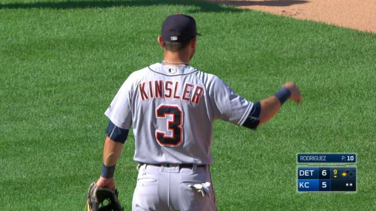 Kinsler's stop in the 9th