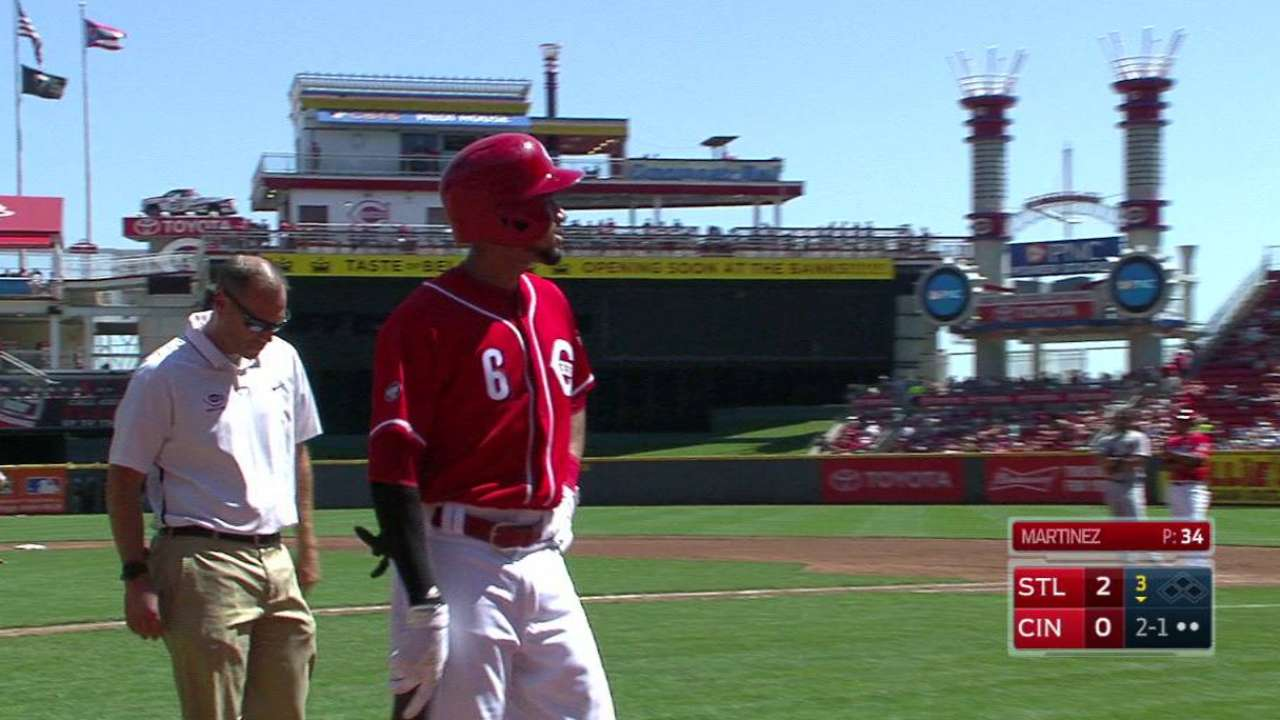Reds place Hamilton, Reed on disabled list