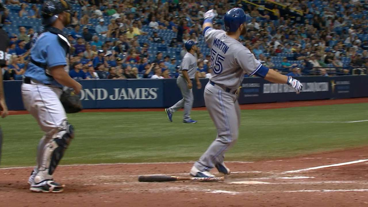 Martin takes advantage of green light for big HR
