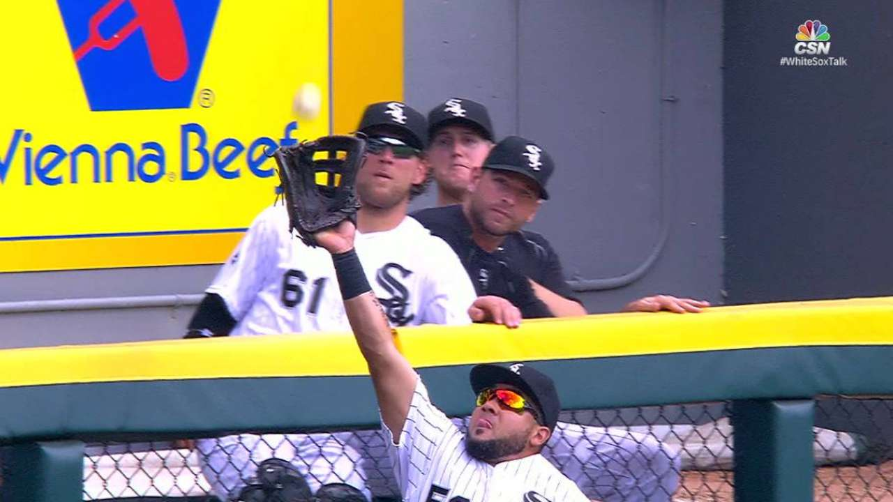 Melky robs a home run