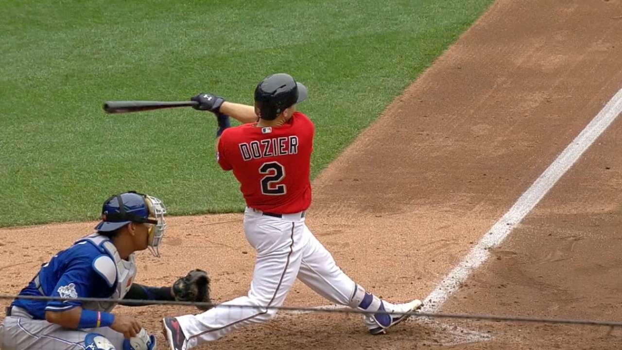 Dozier's three-homer day