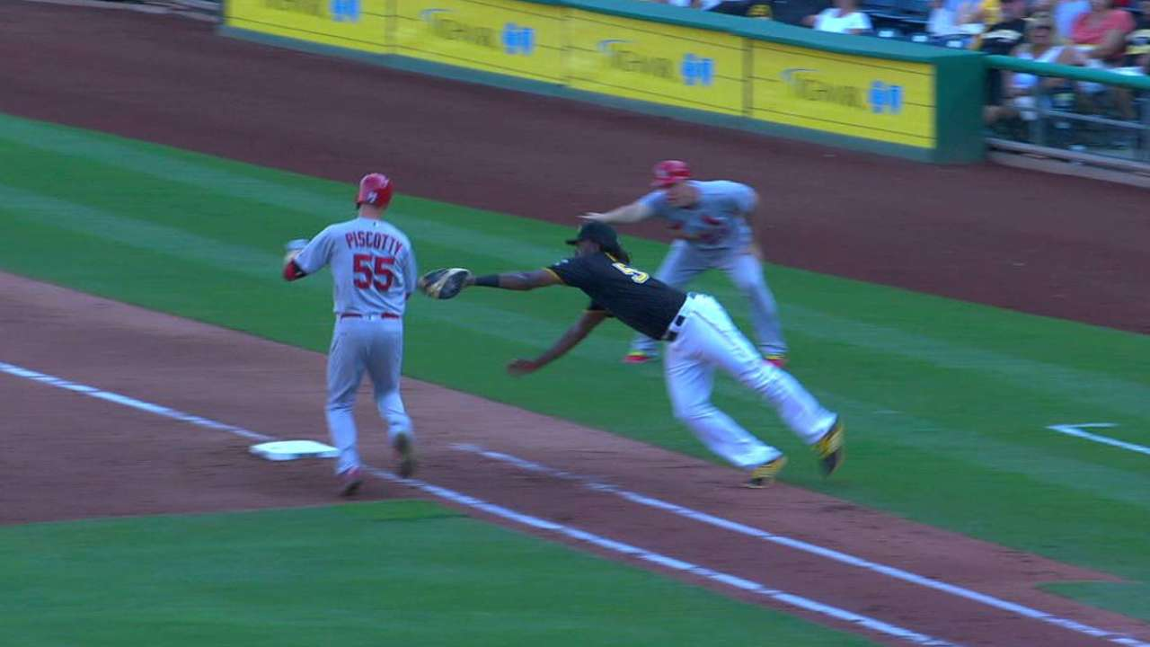 Piscotty safe at first
