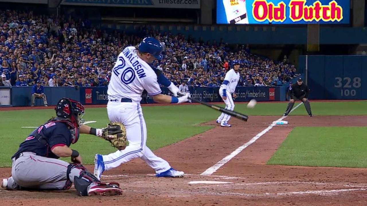Donaldson returns with grand slam in DH role
