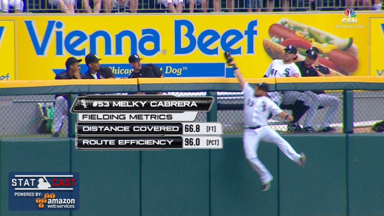 Melky robs another HR, this time on Maybin