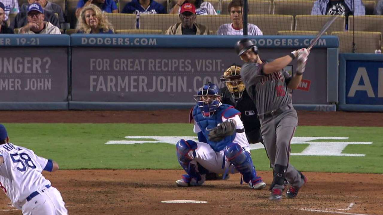 D-backs giving Owings a look as No. 2 hitter
