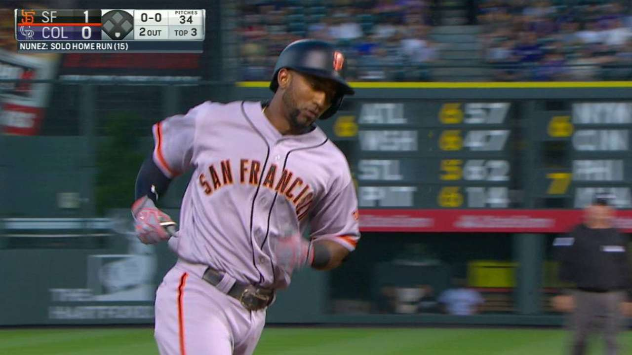 Nunez's solo home run