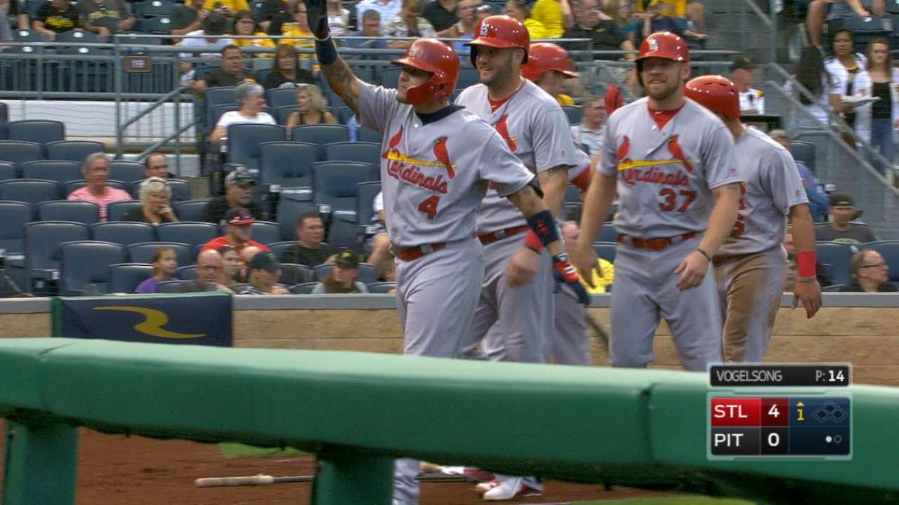 Molina's four-hit night
