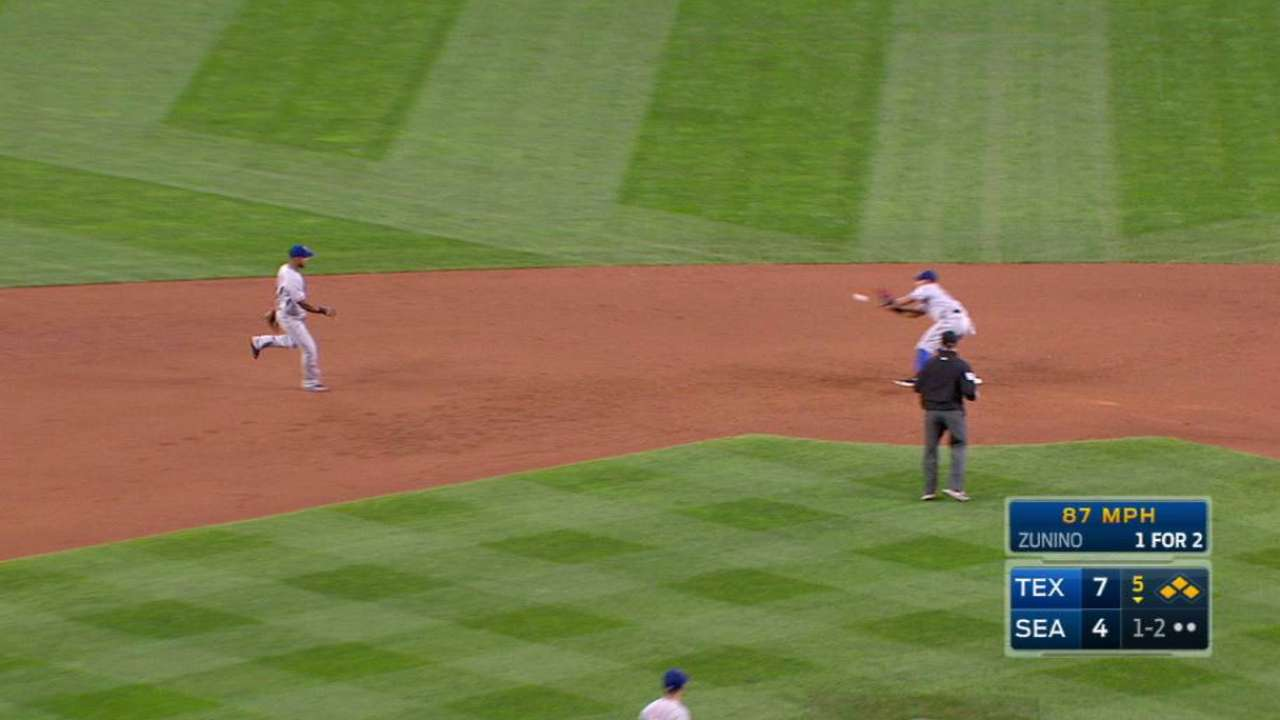 Perez gets Zunino to ground out