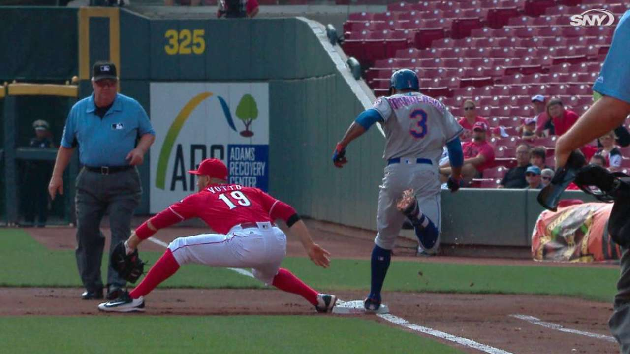 Peraza gets Grandy after review