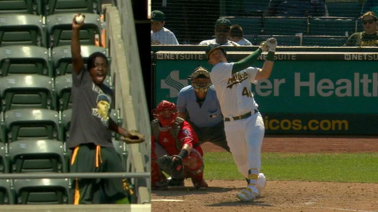 Healy's solo home run
