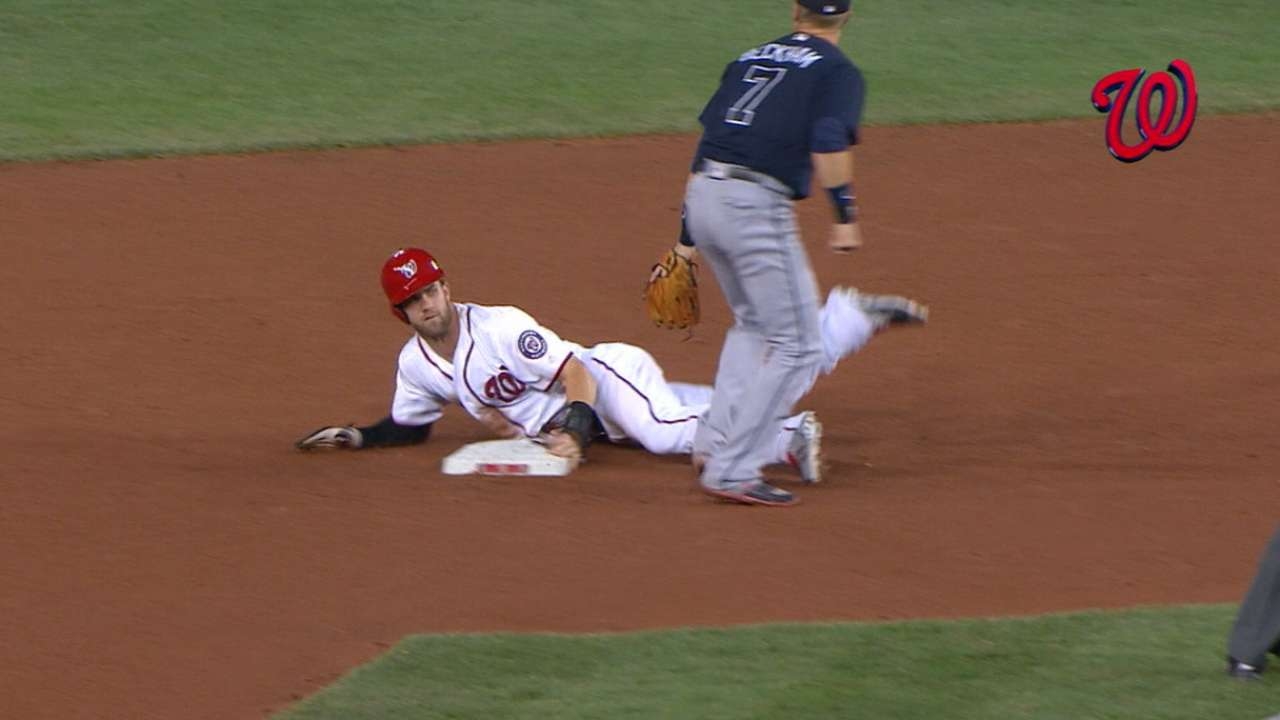 Harper made stealing bases a priority