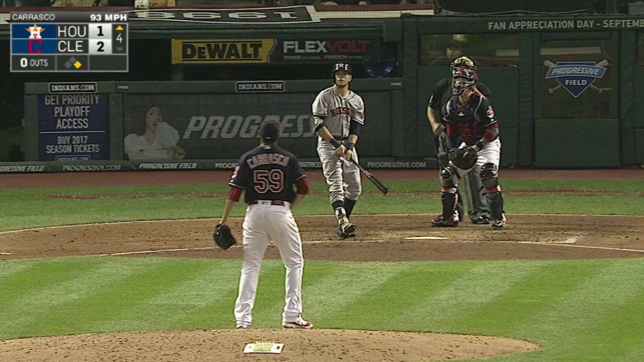 Big flies take Astros only so far vs. Tribe