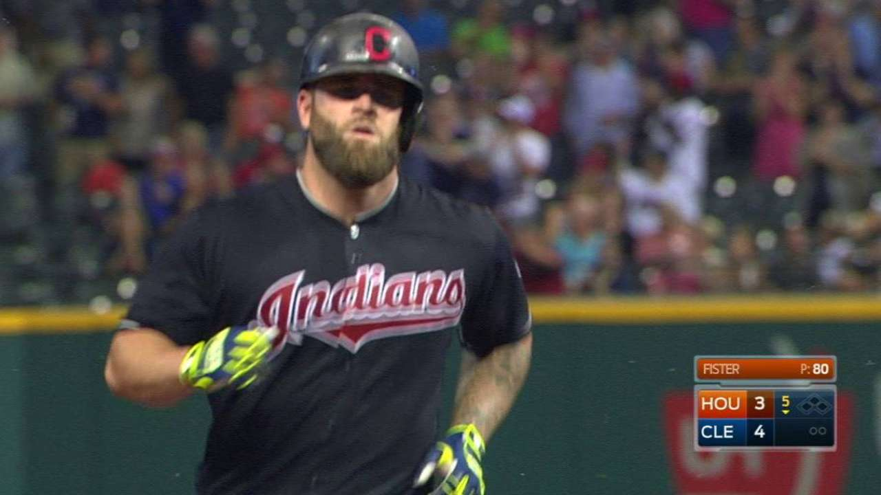Tribe makes Napoli's 31st homer stand up