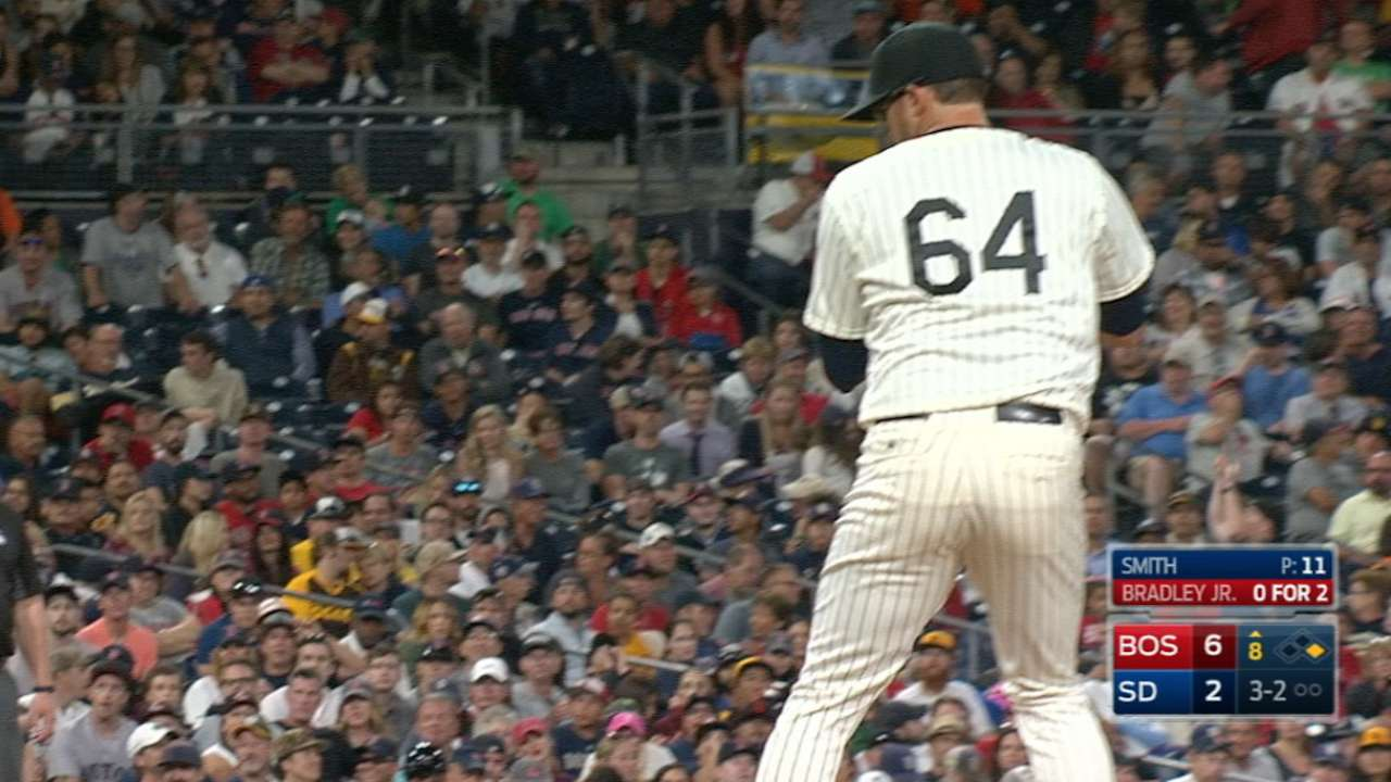 New kind of mound work: Smith gets callup