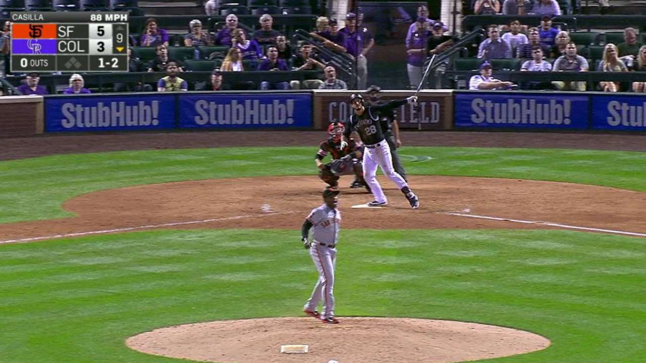 Arenado's solo home run