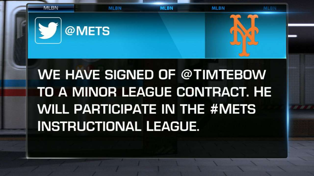 MLB Central on Tebow to Mets
