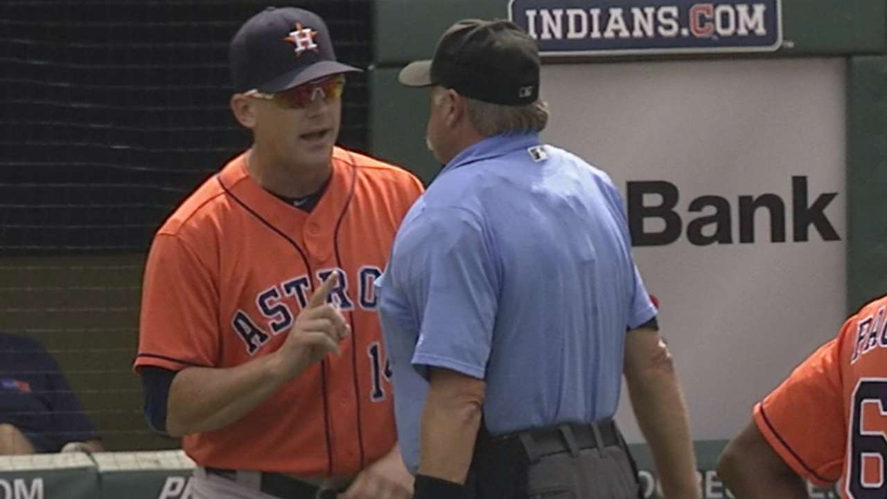 Hinch's ejection on wild pitch