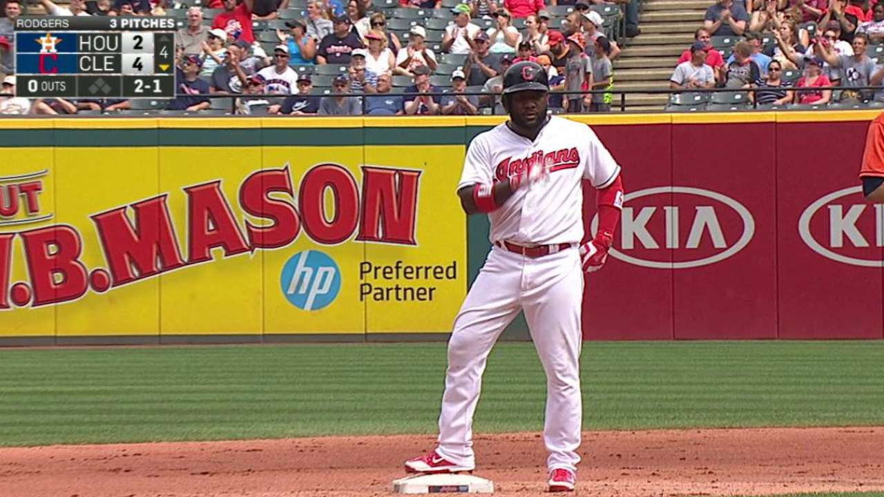 Almonte's homer becomes double