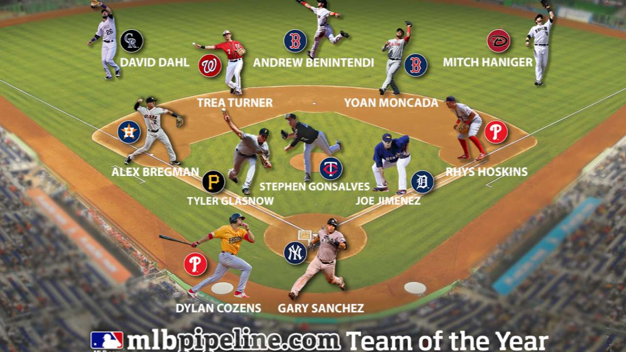 Pair of Red Sox, Phillies headline Prospect Team of the Year