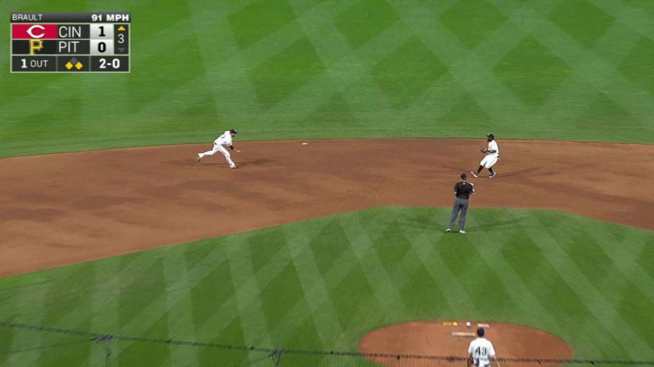 Mercer starts a double play
