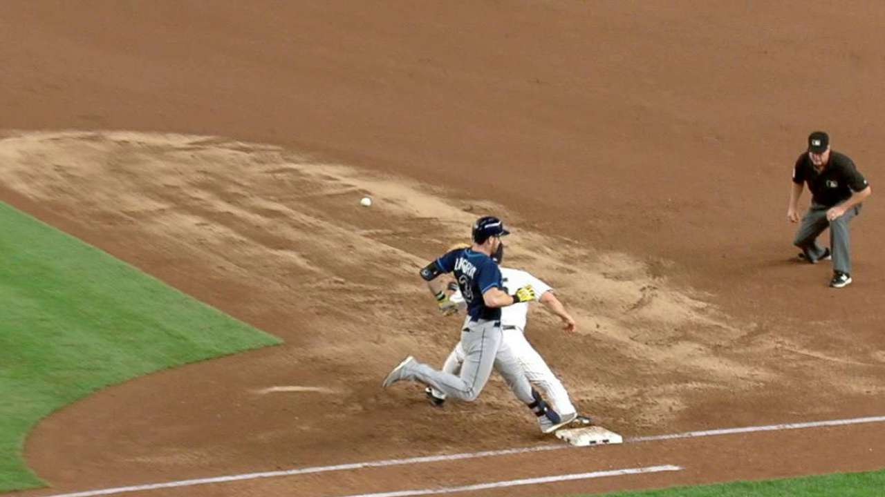 Umpires rule Longoria safe