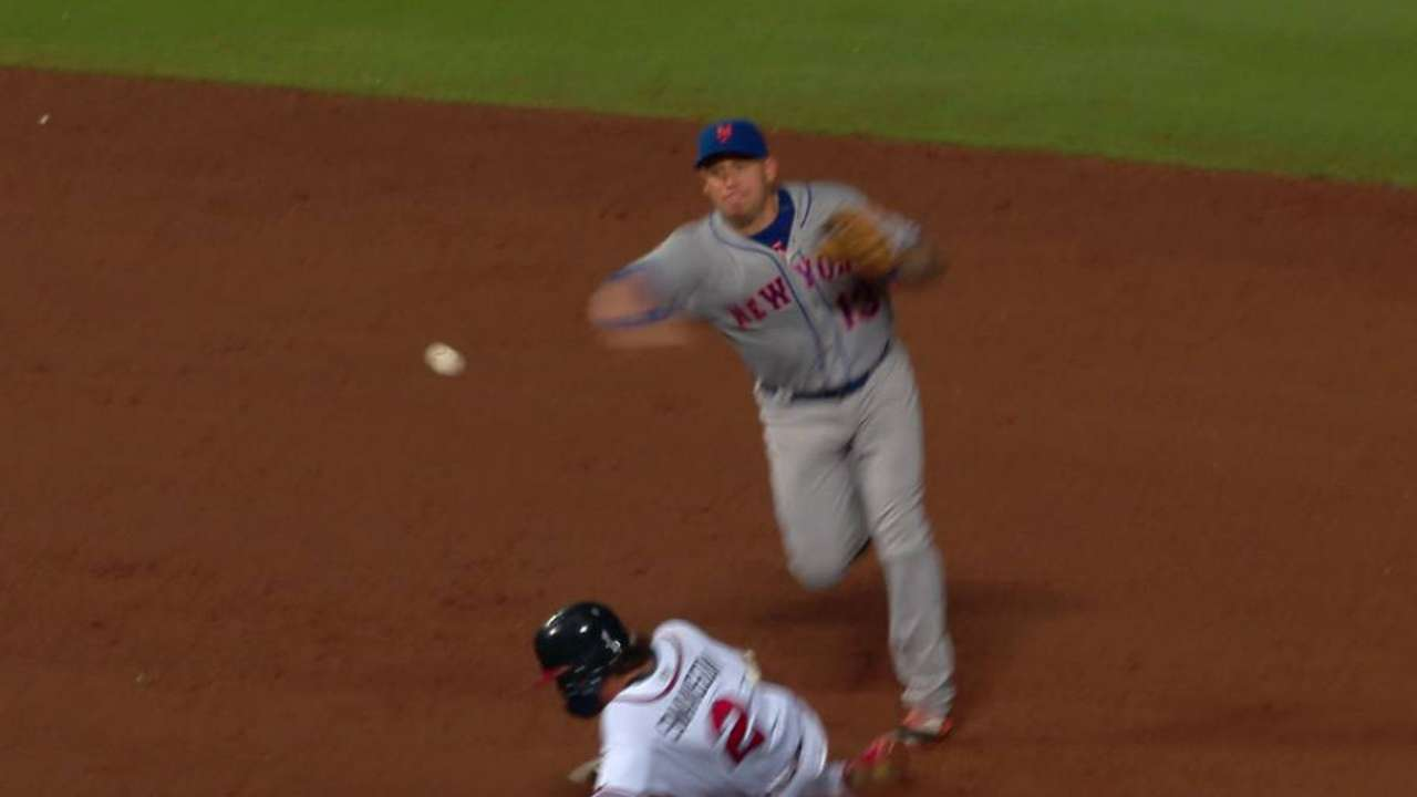 Loney starts a double play