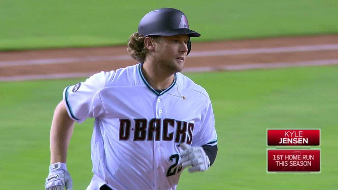 Jensen's first MLB home run