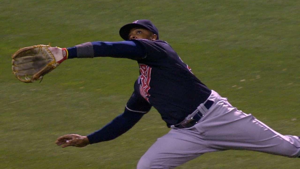 Davis' running catch