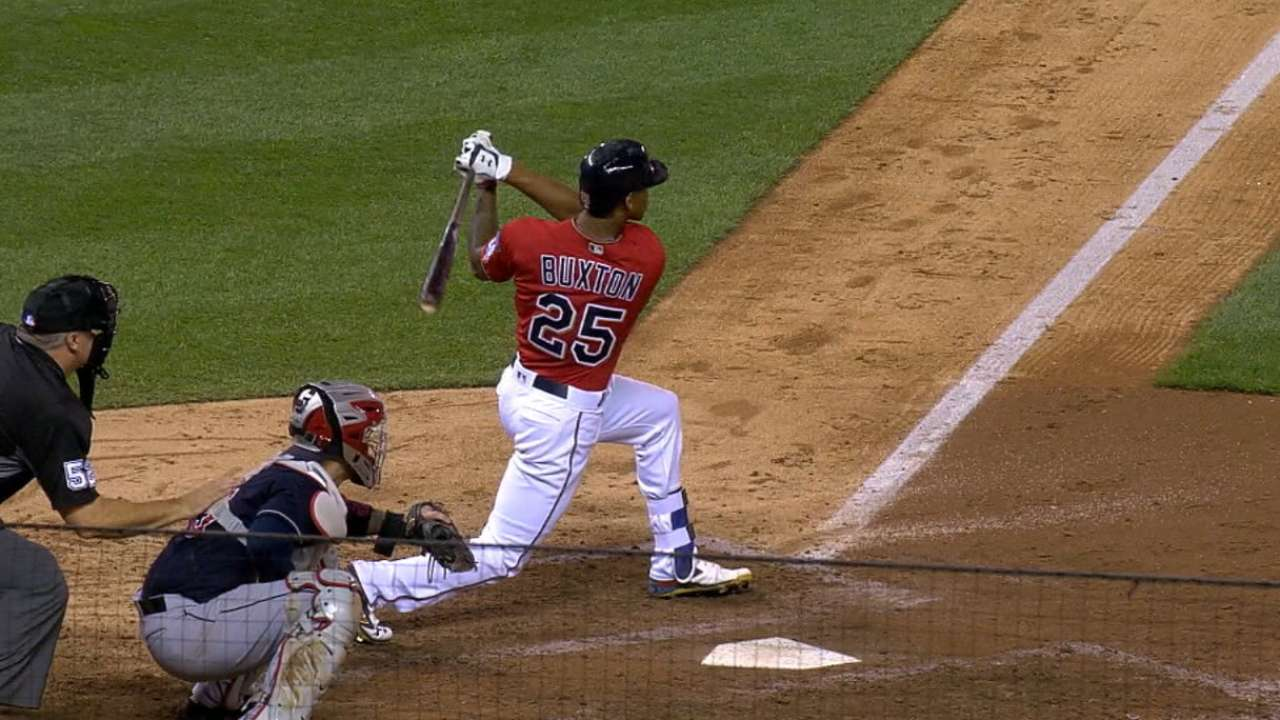 Buxton's 443-foot homer